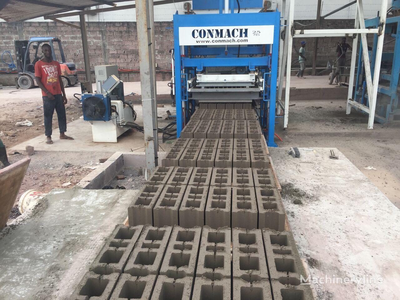 ny CONMACH BlockKing-25MS Concrete Block Making Machine -10.000 units/shift betongblock maskin