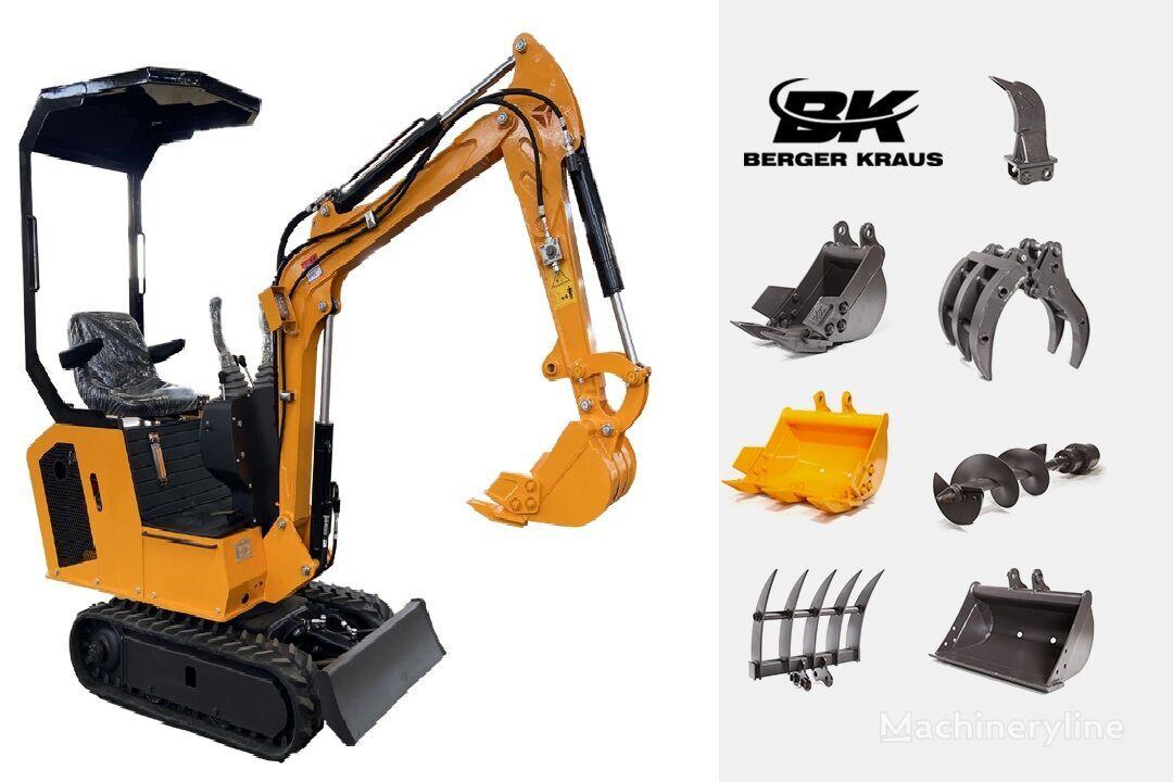 ny BERGER KRAUS Mini Excavator BK800B with FULL equipment minigrävare