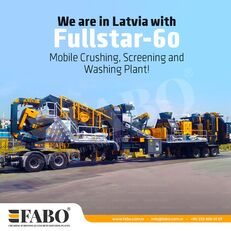 ny FABO FULLSTAR-60 Crushing, Washing & Screening  Plant mobil krossanläggning