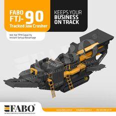 ny FABO Fabo FTJ-90 Tracked Jaw Crusher mobil krossanläggning