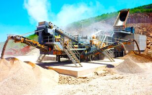 ny FABO PRO-150 MOBILE IMPACT CRUSHER WITH SCREEN FOR LIMESTONE mobil krossanläggning